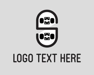 Board - Black Skateboard logo design
