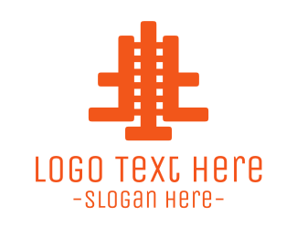 Train - Orange Abstract Film logo design