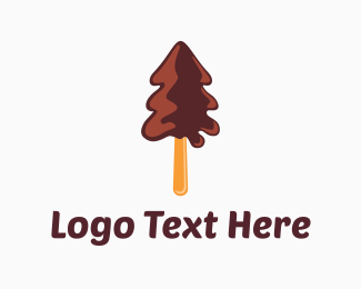Gelato - Chocolate Tree logo design