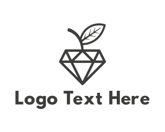 Jeweler - Apple Diamond logo design