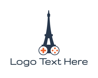 Paris - Eiffel Tower Gaming logo design