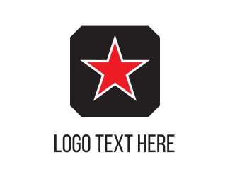 Galaxy - Red Star logo design