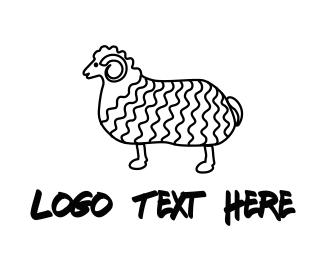 Wool - Curly Goat logo design