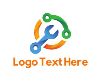 Autoshop - Screwdriver Circle logo design