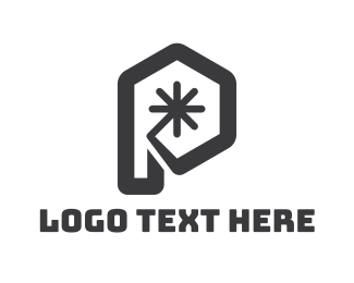 Asterisk - Modern Hexagon P logo design