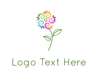 Plant - Colorful Flower logo design