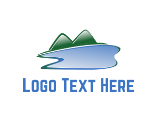 Dental - Lake & Mountains logo design
