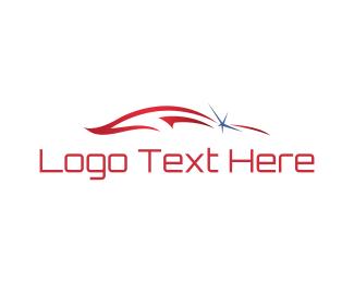 Race - Red Car logo design