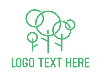 Primitive - Green Stick Family Tree logo design