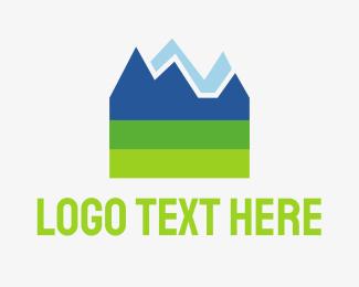 Skiing - Mountain Rock logo design