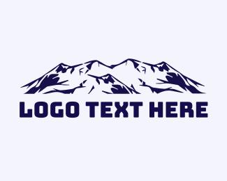 Glacier - Blue Mountains logo design