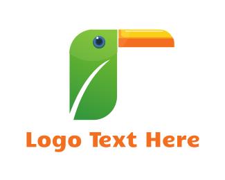 Jungle - Toucan Leaf logo design