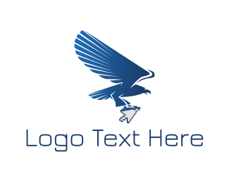 Fly - Eagle Click logo design