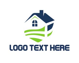 Grass - House Garden logo design