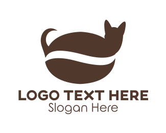 Seed - Coffee Cat logo design