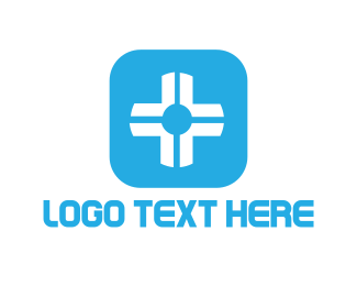Blue And White - White Cross logo design