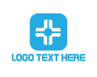 Cross - White Cross logo design