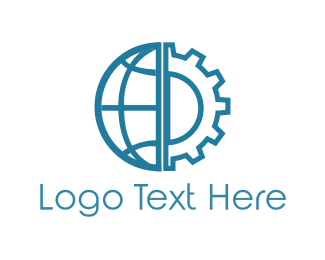 Global - World Gear logo design