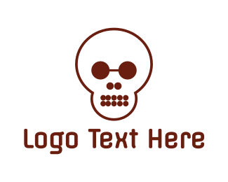 Corps - Circle Shape Skull logo design