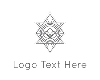 Cosmetics - Abstract Triangles logo design