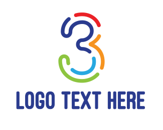 Brazil - Colorful Outline Three logo design