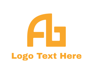 Arch - Modern Yellow AB logo design