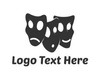 Theater - Drama Faces logo design