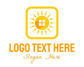 Sunlight - Sun Home Square logo design