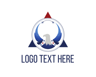 Marine Corp - Eagle Triangle logo design