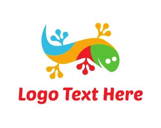 Lizard - Colorful Gecko logo design