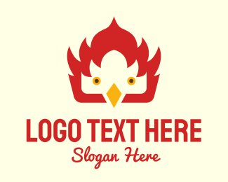 Chick - Fire Bird logo design