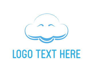 Thunder - Happy Cloud logo design