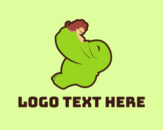 Manga - Green Monster Hug logo design