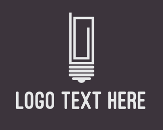 Thinking - Idea Paper Clip logo design