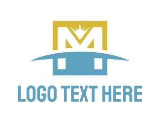Earth - Horizon M logo design
