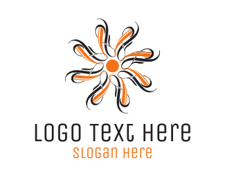 Home Accessories - Orange Flower logo design