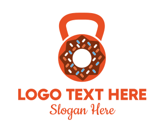 Doughnut - Donut Kettlebell logo design