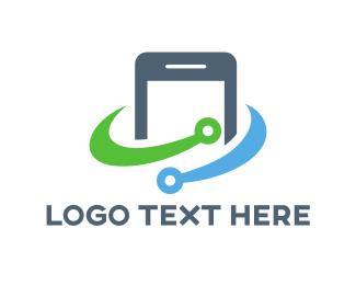 Smartphone - Smartphone Circuit logo design