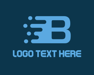 """Fast Letter B"" by eightyLOGOS"