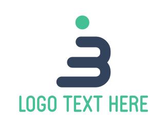 Man - Human Letter B logo design