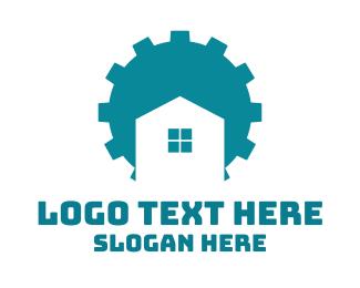 Gear - Blue Gear House logo design