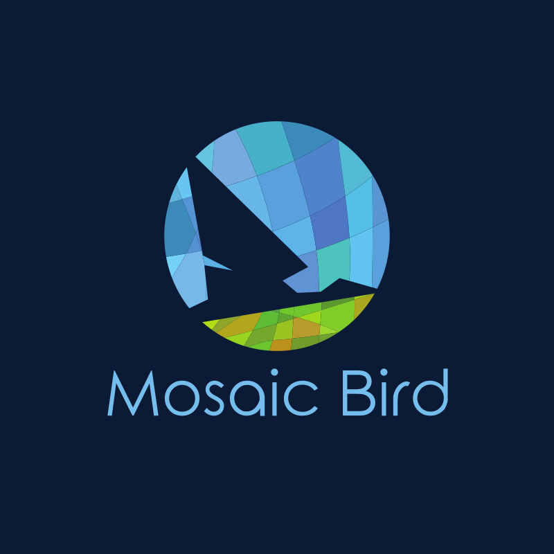 Mosaic Bird Logo