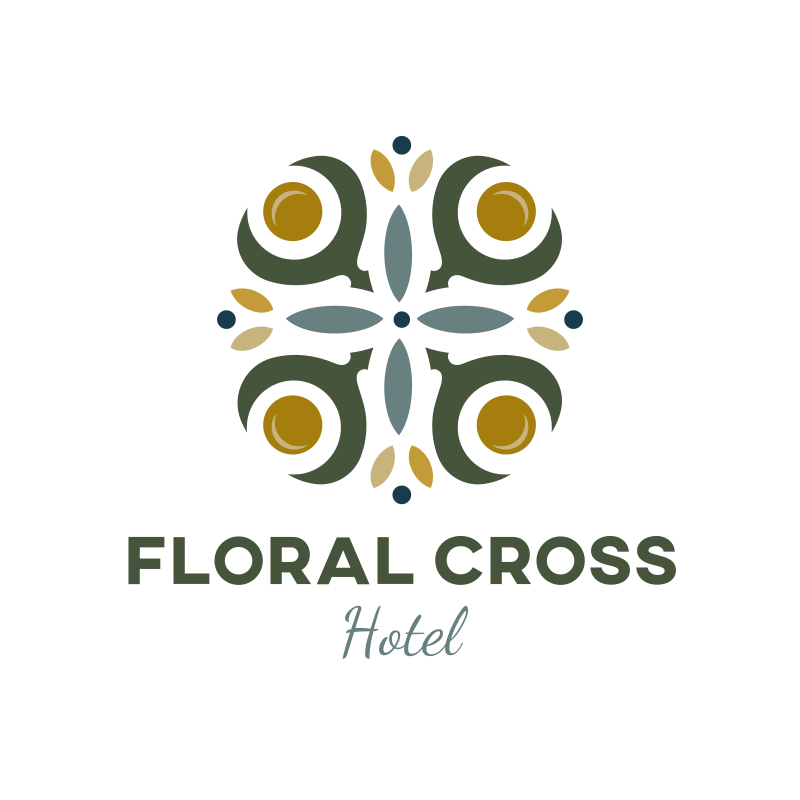 The Floral Cross Logo