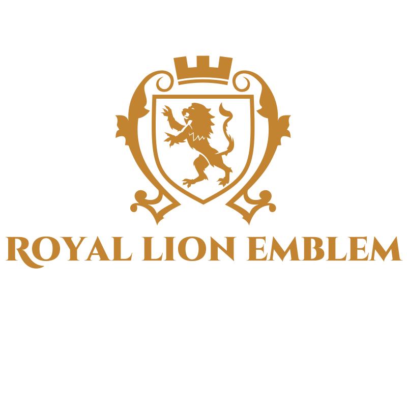 Royal Lion Emblem Logo