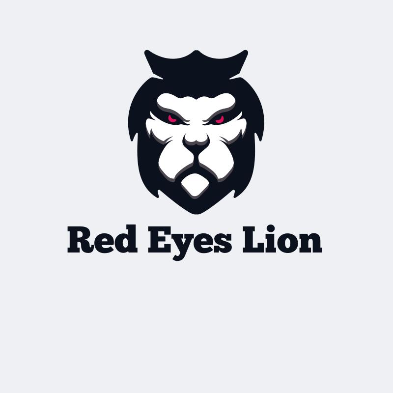 Red Eyes Lion Logo
