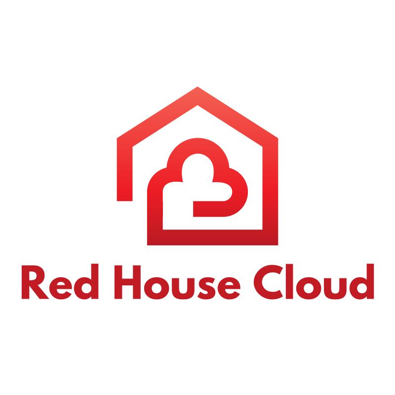 Red House Cloud Logo Design