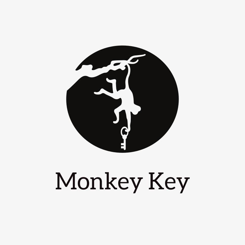 Monkey Key logo design
