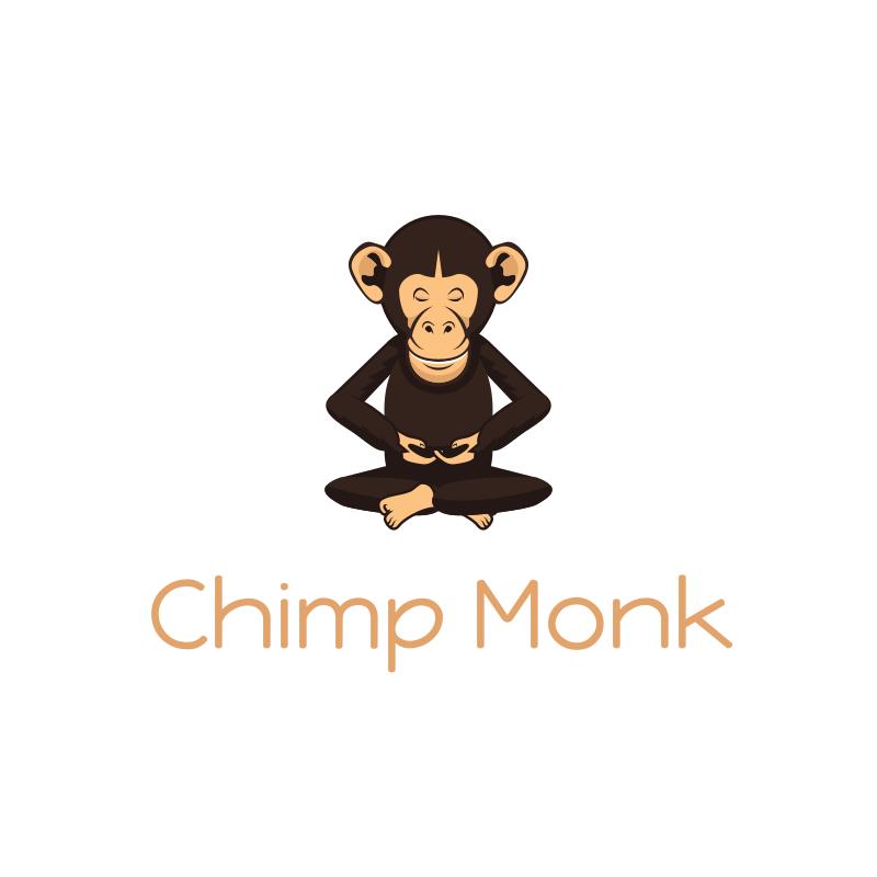 Chimp Monk logo design