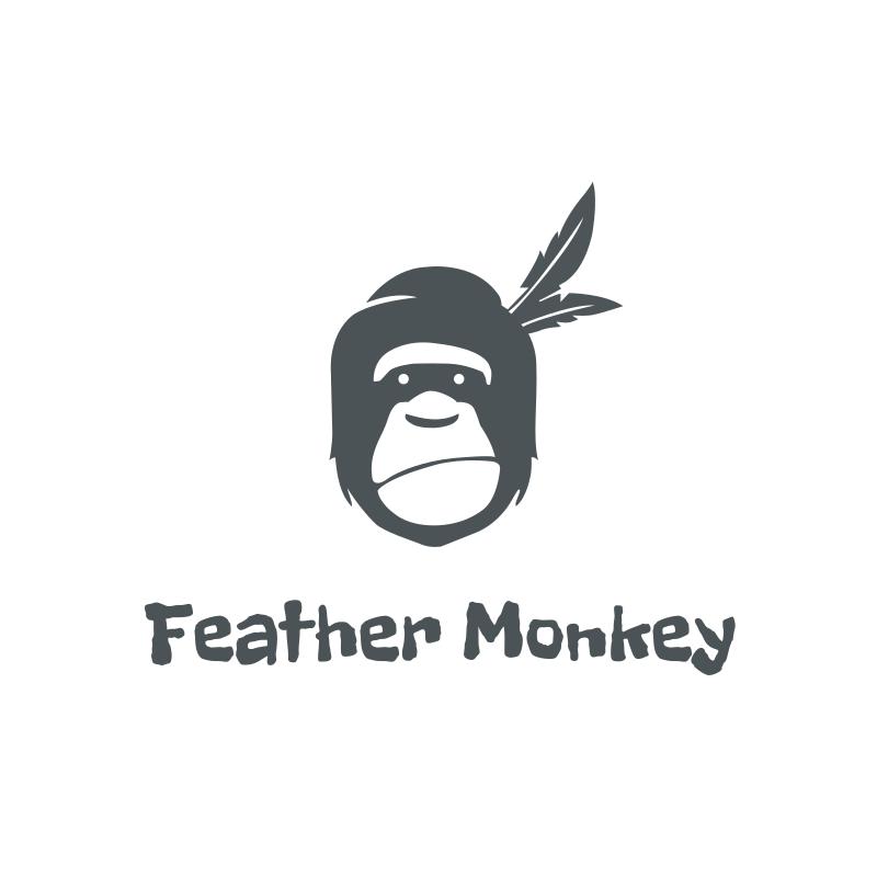 Feather Monkey logo design