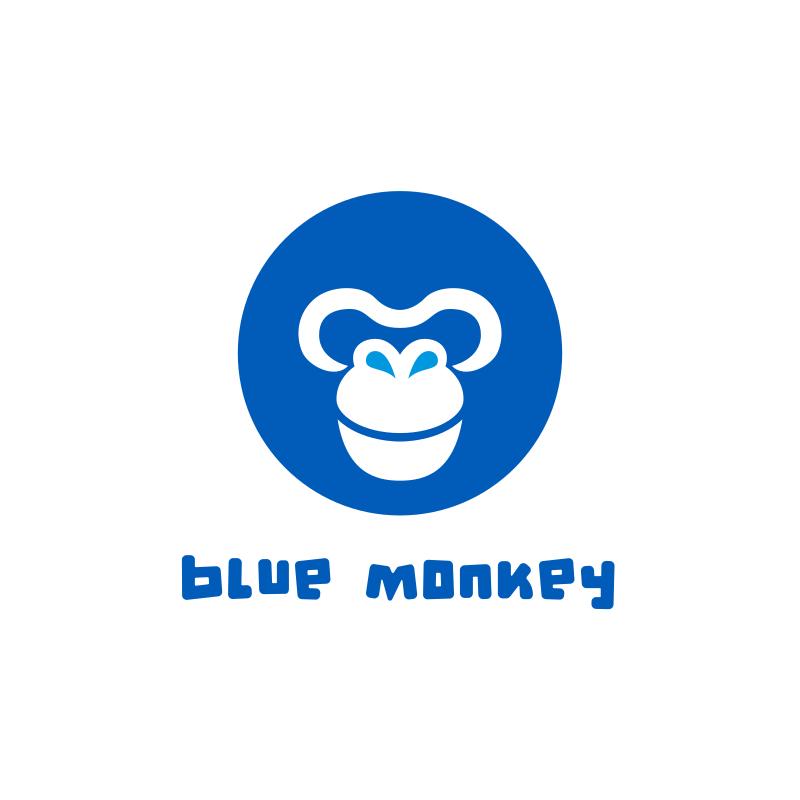 Blue Monkey Logo Design